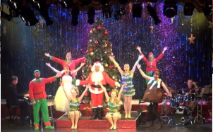 The end of the first half of the Christmas Show